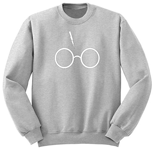 Harry Potter Merch / Lord Voldemort / Felpa / SW38 (S, Grigio)