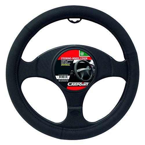 Carpoint 2510048 Couvre Volant PU Noir Mat