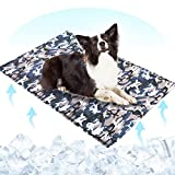 Upgrade Dog Cooling Mat Large 90cm×60cm,Camouflage Non-Toxic Gel Self Cooling Mat Pad Blanket for Dogs Cats Pet,Dog Mats Portable Foldable Waterproof Scratch Resistant Cooling Pad in Hot Summer