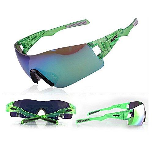 Yiph-Sunglass Sonnenbrillen Mode Männer Frauen TAC Objektiv Übergroße Polarisierte Sport Sonnenbrille Für Radfahren Baseball Laufen Angeln Golf Klettern (Farbe : Grün)