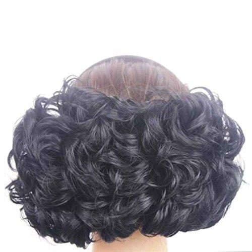 Babysbreath Lockiges Kunsthaar-Pferdeschwanz-Perücken synthetisches Haar bilden lockiges Haarteil Natürliches (Schwarzes Kostüme Haar Lockiges)