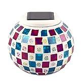 Solarglasmosaik LED Dekorative Tischleuchte Anzeigen Nacht Wasserdichte IP44-Lampe für Garten/Hof/Geschenke Regard
