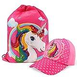 Tacobear Gorra de Beisbol Unicornio niñas y Unicornio Bolsa de Cuerdas para Infantiles Unicornio Rellenos de Bolsas de Fiesta