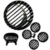 #5: AllExtreme Heavy Metal Headlight Grill,Indicator Grill set and Tail Light Grill Combo For Bajaj Avenger 150cc-(Black)