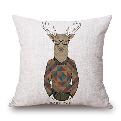 Dibujos Animados de Animales Serie Decorativa Throw Pillow Case Pintado a Mano Funda de cojín Lindo...