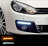 2 X 8 LED TAGFAHRLICHT MIT BLINKERFUNKTION UNIVERSAL FÜR ALLE AUTO'S