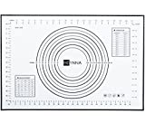 HEYNNA Premium Silikon Backmatte / Rutschfeste Backunterlage 60x40cm - Koch und Back Silikonmatte, Backofenfest, 100% BPA frei