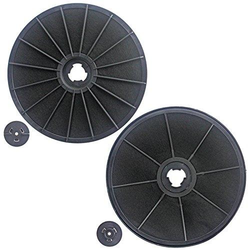 Spares2go Carbón Activo olor filtro para Ariston Cocina Campana (Pack de 2)