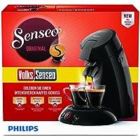 Philips HD6554/69 Kaffeepadmaschine (Volks-Senseo, Sonderedition 100 Pad Promotion und 2 Gläser gratis) schwarz