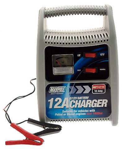 Maypole 74112 Chargeur de batterie 12A 6V/12V