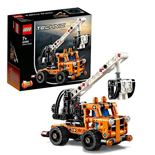 LEGO 42088 Technic Cherry Picker 2 in 1 Tow Truck Model, Building Set for 7+ Years Old Boys and Girls, Vehicle Toys for Kids