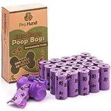 300 Hundekotbeutel biologisch abbaubar mit Beutelspender und Leinenclip / Kotbeutel mit dezentem Lavendelduft / Lila Hundetüten