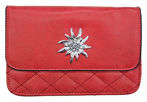 d895613e67508 Trachtenland - Trachtentasche Gesteppt mit Edelweiß oder Hirsch Applikation  - Schöne Handtasche zum Dirndl Edelweiß -