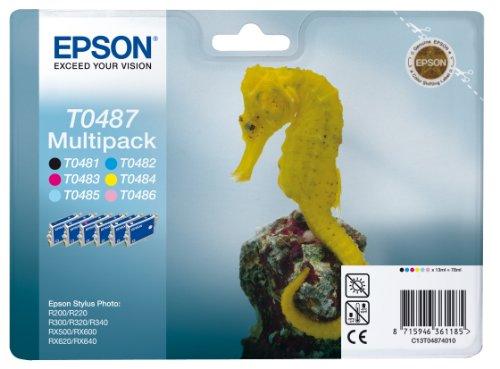 Epson - Multipack T0487 - Cartouche d'Encre d'Origine