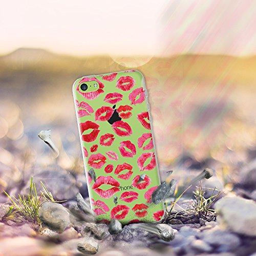 iPhone 5C Hülle, WoowCase® [ Hybrid ] Handyhülle PC + Silikon für [ iPhone 5C ] Indische Pferde Sammlung Tier Designs Handytasche Handy Cover Case Schutzhülle - Transparent Hybrid Hülle iPhone 5C D0041