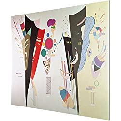 Bilderwelten Alu-Dibond - Kunstdruck Wassily Kandinsky - Wechselseitiger Gleichklang - Expressionismus Quer 3:4, Aluminium Print Wandbild Alu-Bild Wall Art, Größe HxB: 60cm x 80cm