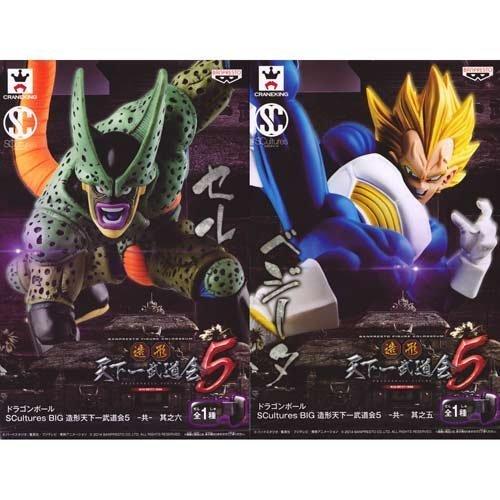 Esculturas grande modelado Tenkaichi Budokai 5 - co - ? ? cinco + ? ? seis celulas Vegeta conjunto de Dragon Ball de 2 cifras