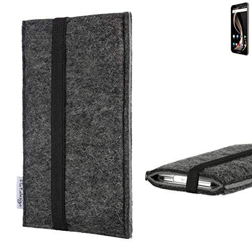 flat.design Handyhülle Lagoa für Allview X4 Soul Infinity Z | Farbe: anthrazit/grau | Smartphone-Tasche aus Filz | Handy Schutzhülle| Handytasche Made in Germany
