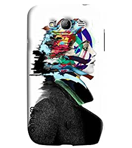 Omnam Black And White Girl With Coloful Hair Printed Designer Back Cover Case For Samsung Galaxy Grand i9082
