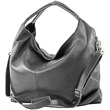 c2f66d9970a5 modamoda de - DS26 - ital Damenhandtasche aus Nappaleder