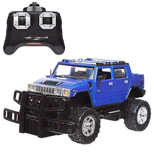 Invero® Satzuma Full Function Radio Controlled RC Hummer (H2) 1:24 Scale features Working Lights, Independent Suspension, Alloy Effect Rims Tyres, Front Wheel Tracking and Rubber Wing Mirrors (Hummer H2 1 10)
