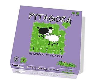 CreativaMente 100-Juegos de Caja Pytagora-Numbers de Puzzle