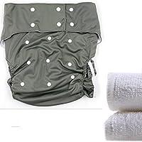 lukloy–Teen/adultos pañales de tela con insertos de 2pcs para cuidado de incontinencia–Dual Apertura bolsillo lavable ajustable reutilizable leakfree