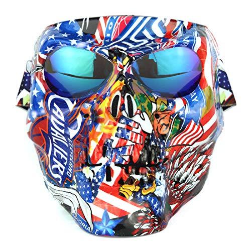 s ganze Gesicht, Airsoft-Maske, Gesichtsmaske, Schutzmaske, ideal für Paintball / Halloween-Kostüm / GEH Raus ()