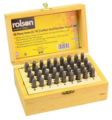 Rolson 26127 Stempelsatz Buchstaben und Zahlen 36-teilig