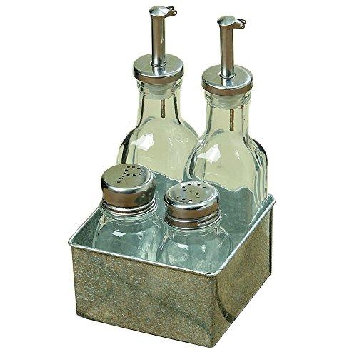 Set da cucina e da tavola - Dosatori per Aceto, olio, sale e pepe in ...