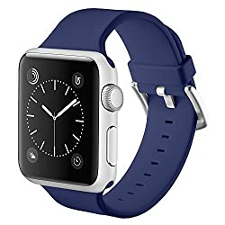 Vandarui For Apple Sports Watch Band,silicone Bracelet Strap Wristband Replacement Band For Apple Watch Series 1,apple Watch Series 2,apple Watch Series 3 (38mm, Navy Blue)