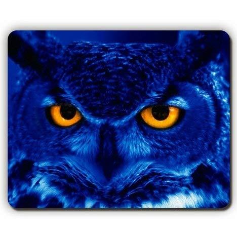 (Augen Mausunterlage) Qualitätsmausunterlage, gelbe Augen der Raubvogelnacht der Eule, Spiel-Büro Mousepad