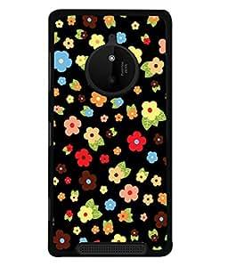 PrintVisa Floral Design High Gloss Designer Back Case Cover for Nokia Lumia 830