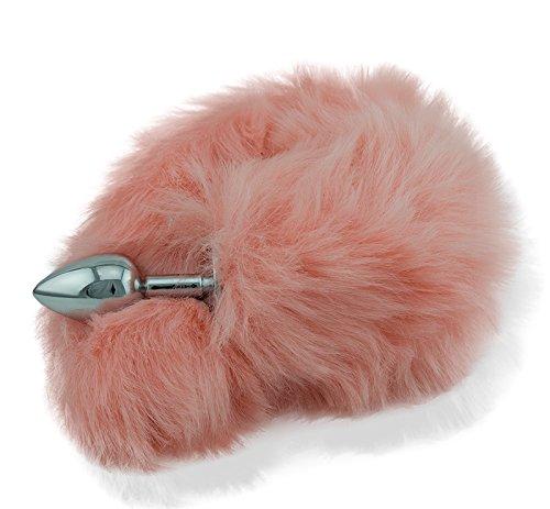 Extasialand Buttplug Analplug mit aufregendem rosa Fell Fuchsschwanz Fox Tail