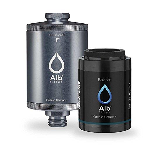Alb Filter® Balance Duschfilter für gesunde Haut und Haare anstatt Hautirritationen und Juckreiz. Made in Germany. Titan