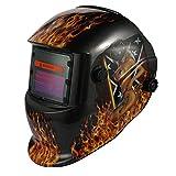 KKmoon Máscara de soldadura de luz solar variable de energía solar TIG casco de soldadura por puntos con perilla ajustable