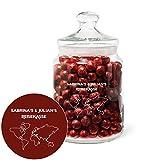 Geschenke.de Personalisierbares Keksglas Reisekasse mit Gravur - individuelle Reise Geschenkidee für Männer und Frauen oder für ausgefallene Geldgeschenke zur Hochzeit