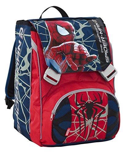Zaino scuola sdoppiabile BIG bambino Marvel - The amazing SPIDERMAN 2 - con Gadget orologio - estensibile 28 LT uomo ragno spider-man