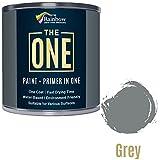 1Sprühfarbe, Mantel, Multi-Farben für Holz, Metall, Kunststoff, Außen grau, glänzend, 250ml
