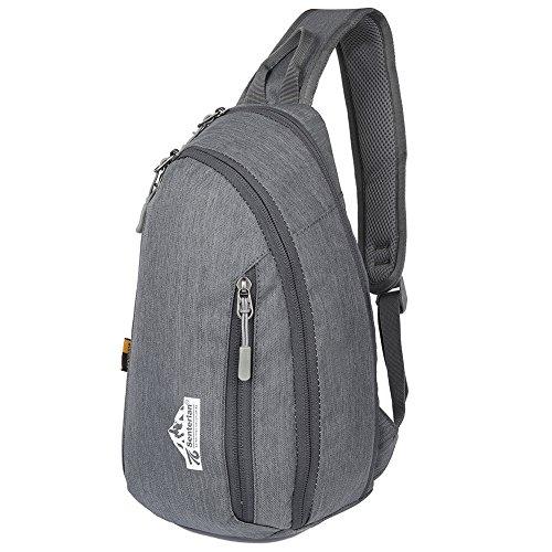 EGOGO Wasserdicht Nylon Schleuder Tasche Chest Pack Schultertasche für Sportarten Reisen Wandern W3403 Grau