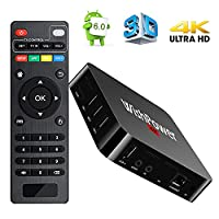 Android TV BOX, Wishpower New Amlogic S905X Smart TV Box Android 5.1 Quad Core 1G/8G UHD 4K Streaming Media Player TV Box with WiFi, HDMI, DLNA