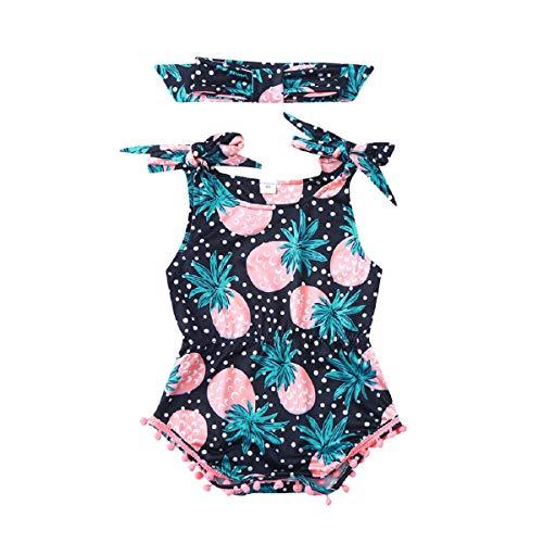 r für Kinder, Ananas-Print, Strampelanzug, Bodysuit + Stirnband ()
