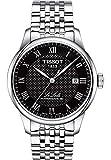 Tissot Herren-Armbanduhr Analog Automatik, Gangreserve ca. 80 Std. One Size, schwarz, Silber