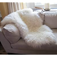 SNUGRUGS Genuine Large Sheepskin Rug with Extra Thick Wool
