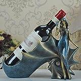 HETAO Persönlichkeit Kreative Weinregal moderne einfache Weinflasche Glas Regal Weinschrank Ornamente schöne Wein Regal Wohnzimmer Wein halten, zwei Arten zu wählen , beauty wine shelf Dekoratives Regal