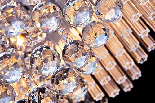 SaintMossi® Modern Unterputzmontage Wohnzimmer Kristall Deckenleuchte Kronleuchter 12 X G9 Lampenfassung Länge 40cm X Höhe 25cm X Breite 40cm - 7