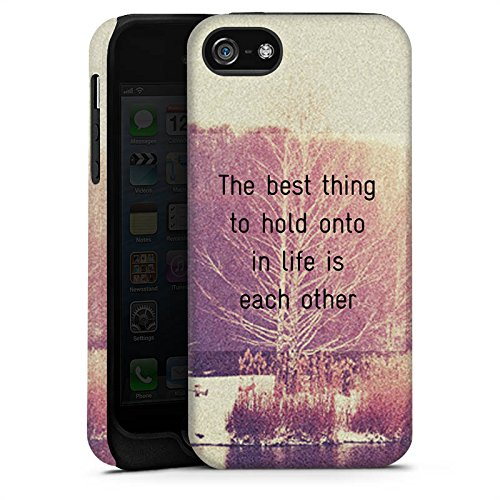Apple iPhone 4 Housse Étui Silicone Coque Protection Phrases Arbres Amour Cas Tough terne