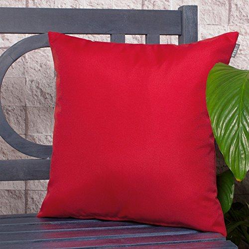 Komfort CO Outdoor Wasserdicht Faser gefüllt Garten Kissen für Stühle/Sitze und Bänke–Rot