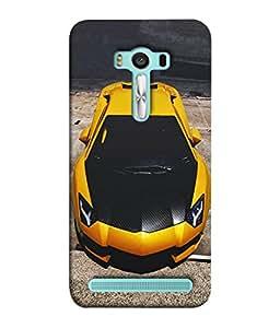 Fuson Designer Back Case Cover for Asus Zenfone 2 Laser ZE500KL (5 Inches) (line strips tika bindi rangoli art)
