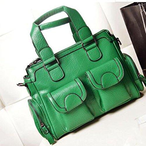 Borsa A Tracolla In Pelle Multicolore Vintage Handbags Green